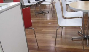 Commercial Flooring laid for a staff cafeteria