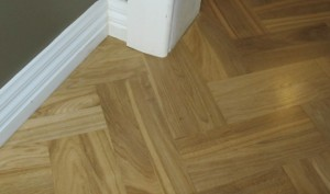 Simple zig zag parquetry flooring - we lay mosaic and block parquetry
